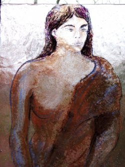 Fused Glass Figure Drawing