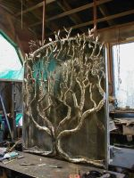 Assembled brazed tree into box